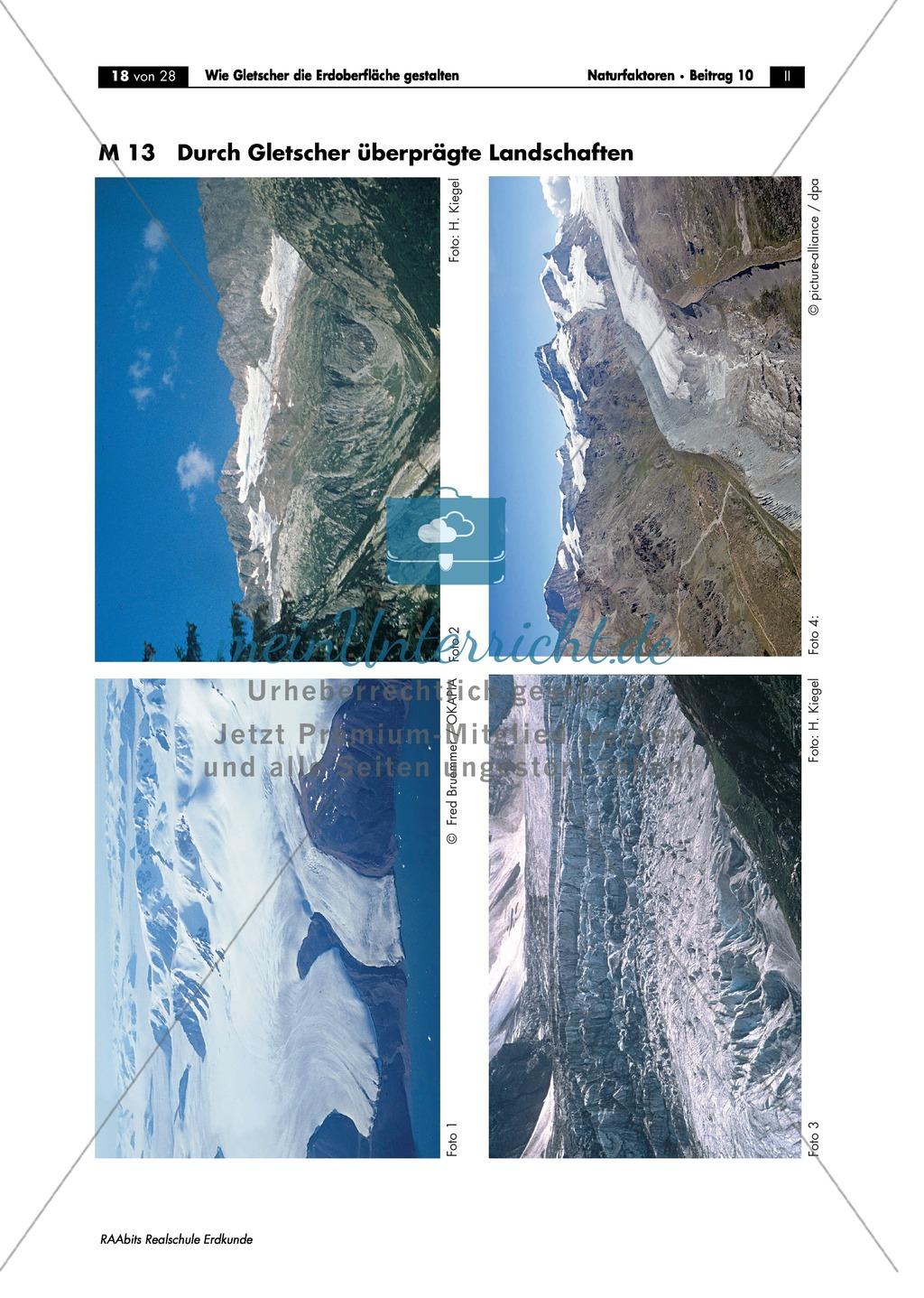 Wie Gletscher die Erdoberfläche gestalten: Wiederholung + Lernerfolgskontrolle Preview 0