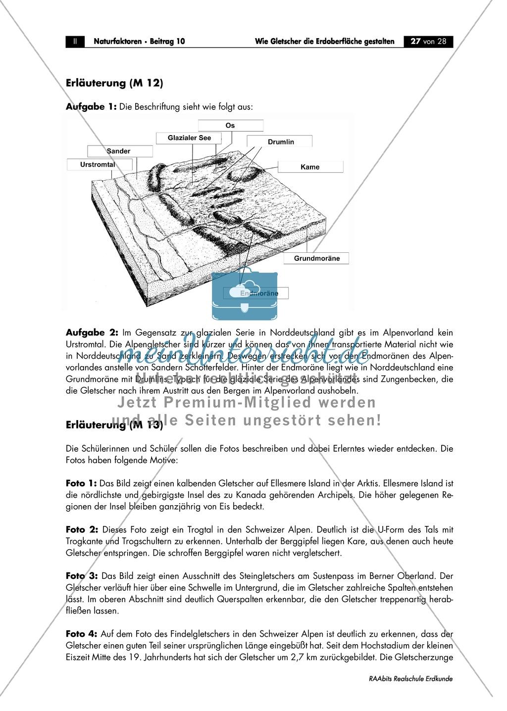 Wie Gletscher die Erdoberfläche gestalten: Wiederholung + Lernerfolgskontrolle Preview 3
