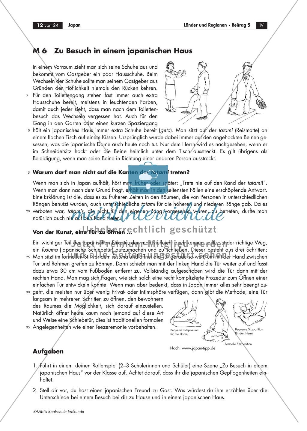 Bräuche und Sitten im modernen Japan kennen lernen: Begrüßungsformen + Umgangsformen Preview 1