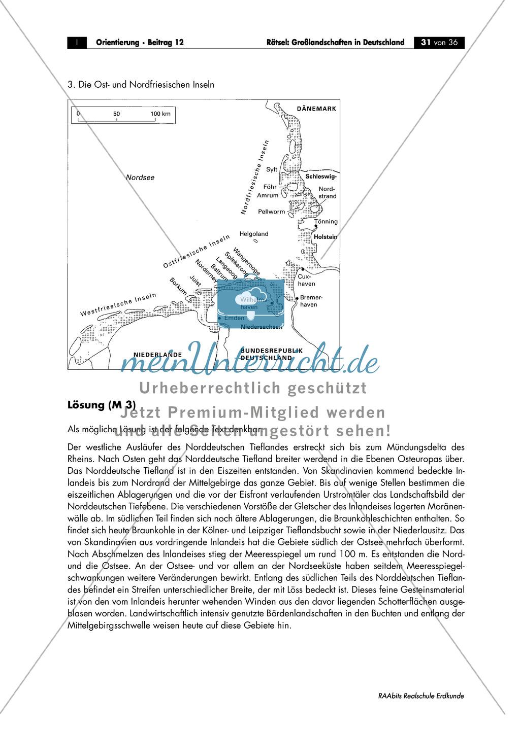 Großlandschaften in Deutschland - ein Rätsel: Inseln in der Nord- und Ostsee Preview 3