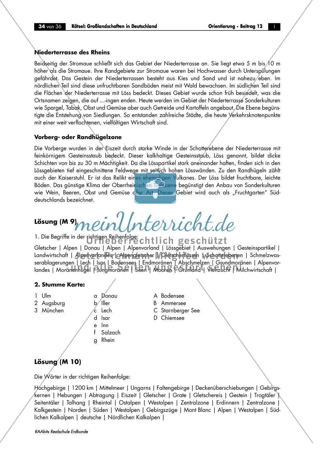 Großlandschaften in Deutschland - ein Rätsel: Die Oberrheinische Tiefebene Preview 4