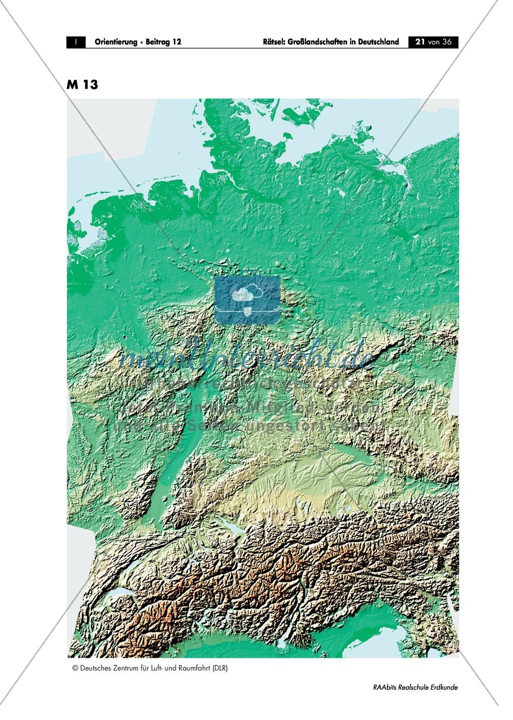Großlandschaften in Deutschland - ein Rätsel: Merkmale + Quartett Preview 3