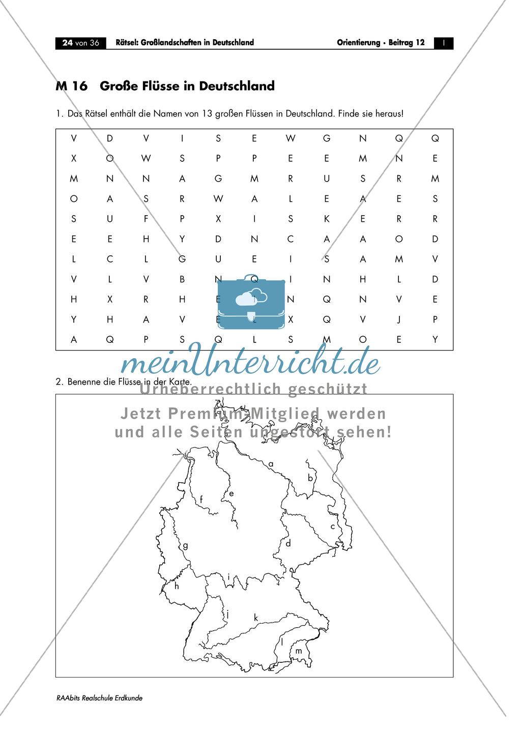 Landschaftskunde Deutschland: Topographie Preview 3