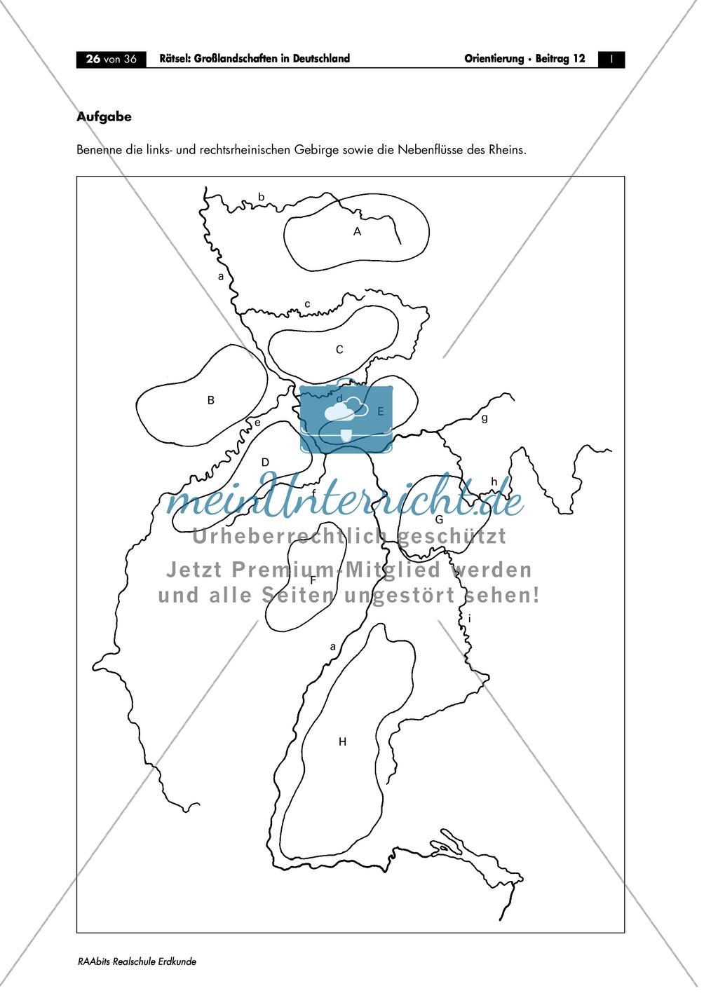 Landschaftskunde Deutschland: Topographie Preview 5