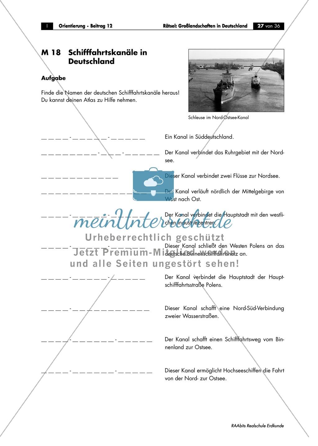 Landschaftskunde Deutschland: Topographie Preview 6