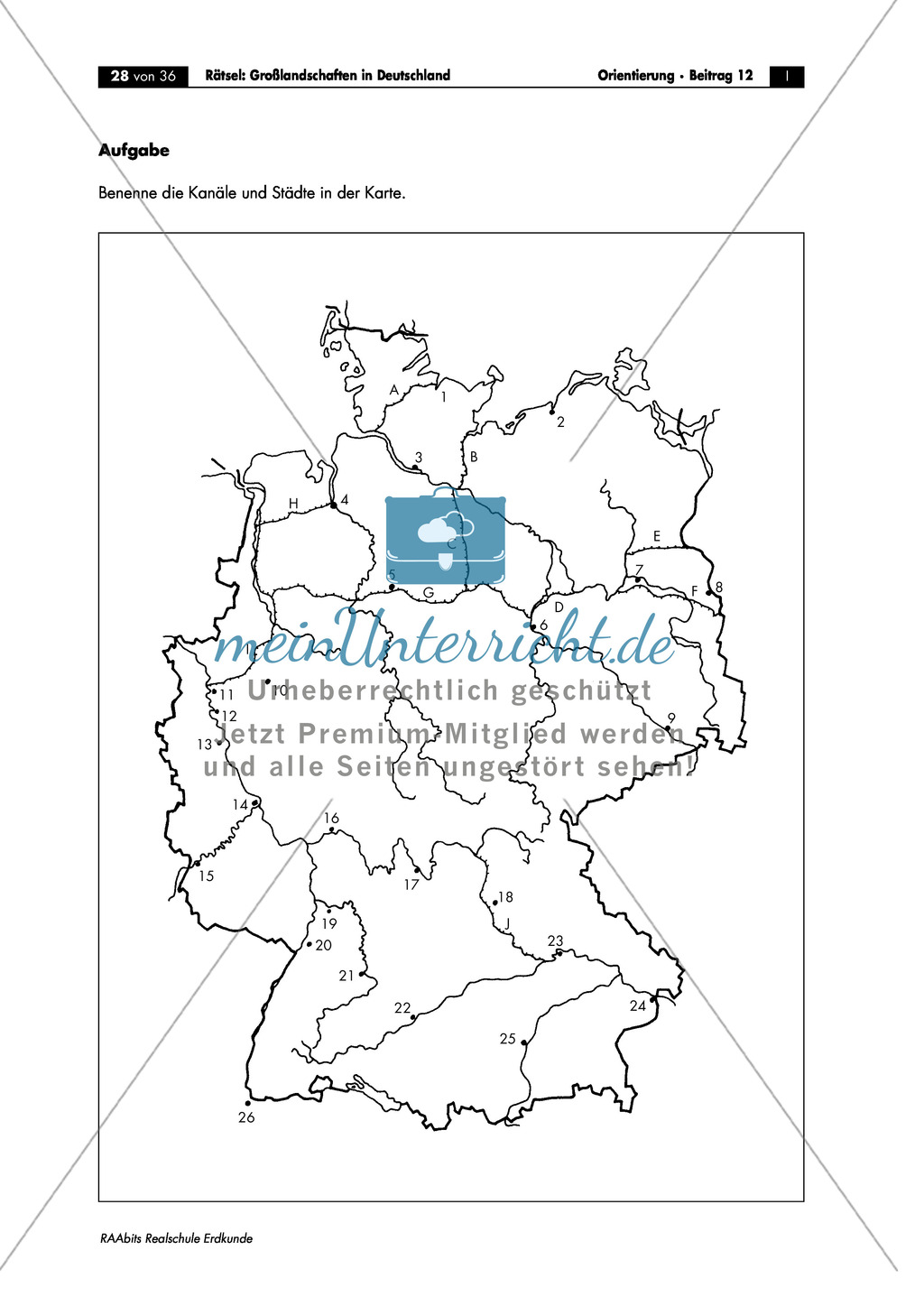 Landschaftskunde Deutschland: Topographie Preview 7