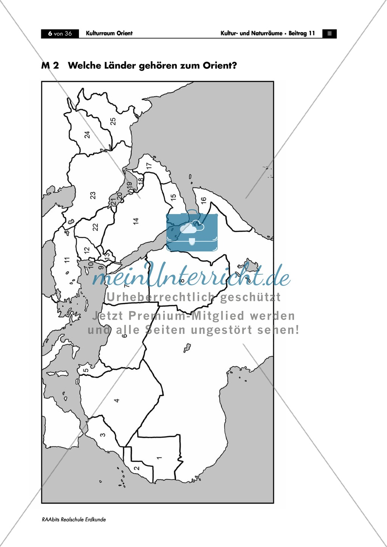 Den Orient physisch geographisch einorden: Klima + Topographie Preview 0