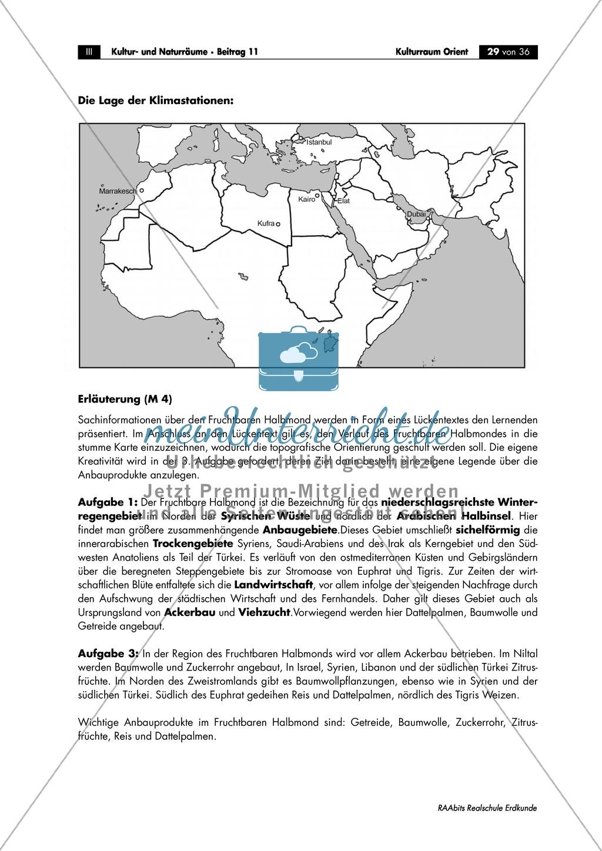 Den Orient physisch geographisch einorden: Klima + Topographie Preview 6