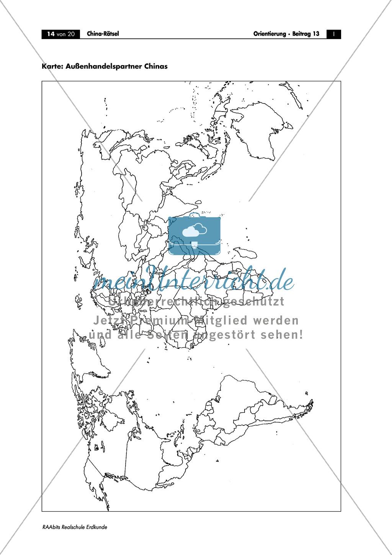 China: Aufgaben zur Topografie und Länderkunde Preview 13