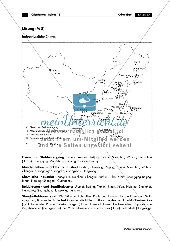 China: Aufgaben zur Topografie und Länderkunde Preview 17
