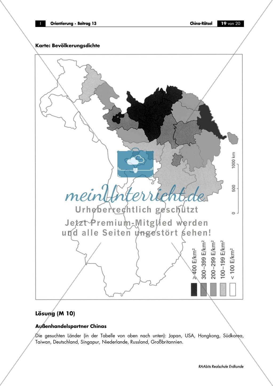 China: Aufgaben zur Topografie und Länderkunde Preview 19