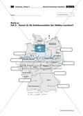 Lernzirkel zur räumlichen Orientierung in Deutschland: Bundesländer + Nachbarländer + Flüsse + Gebirge und Landschaften + Hauptstädte + Autokennzeichen + Wappen Preview 12