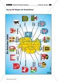Lernzirkel zur räumlichen Orientierung in Deutschland: Bundesländer + Nachbarländer + Flüsse + Gebirge und Landschaften + Hauptstädte + Autokennzeichen + Wappen Preview 19