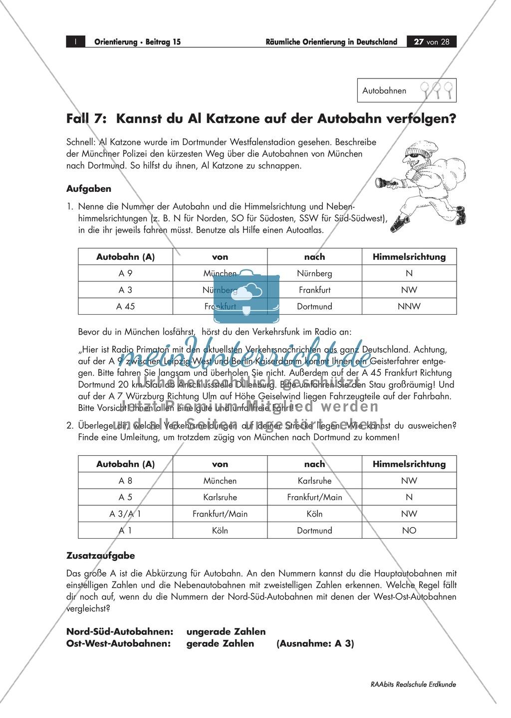 Lernzirkel zur räumlichen Orientierung in Deutschland: Bundesländer + Nachbarländer + Flüsse + Gebirge und Landschaften + Hauptstädte + Autokennzeichen + Wappen Preview 23