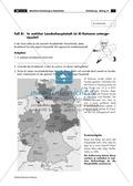 Lernzirkel zur räumlichen Orientierung in Deutschland: Bundesländer + Nachbarländer + Flüsse + Gebirge und Landschaften + Hauptstädte + Autokennzeichen + Wappen Preview 25