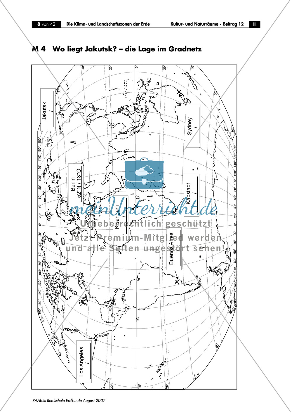 Klima- und Landschaftszonen der Erde: Jahreszeiten auf der Nord- und Südhalbkugel Preview 3