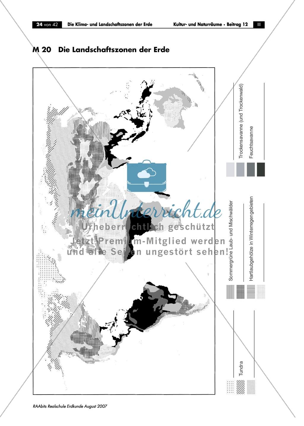 Klima- und Landschaftszonen der Erde: Landschaftszonen der Erde Preview 2