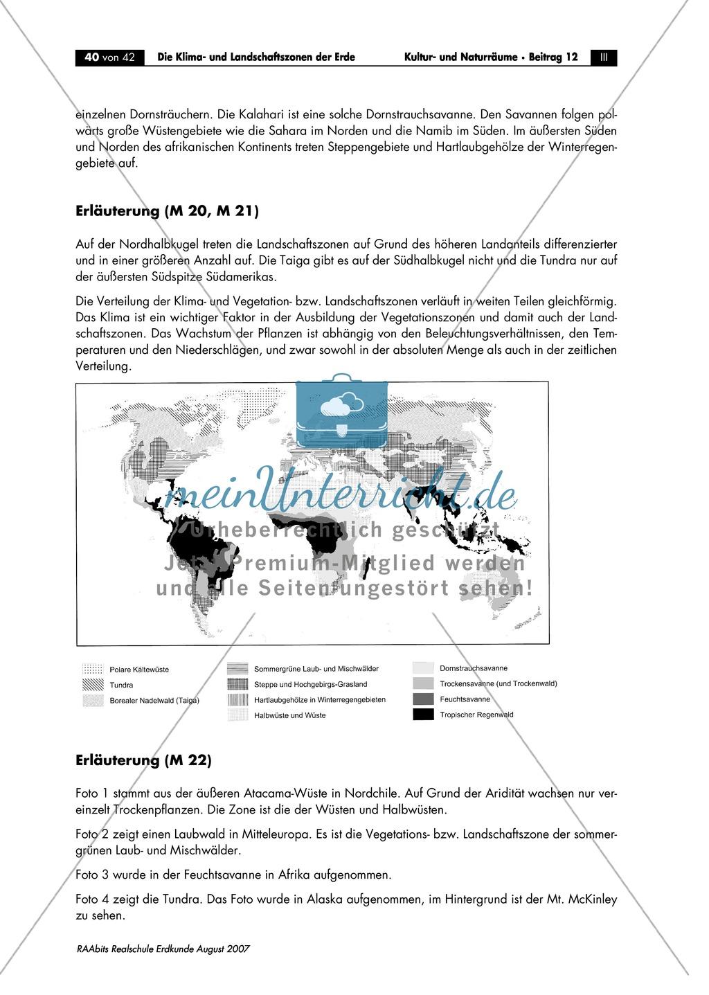 Klima- und Landschaftszonen der Erde: Landschaftszonen der Erde Preview 7
