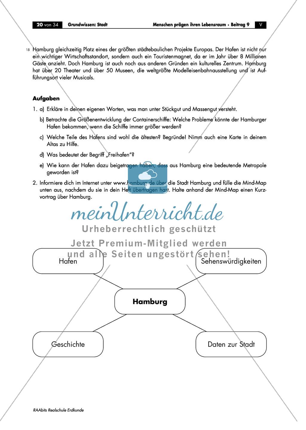 Grundlagen Stadt: Hamburg - Hafencity + Städtebauprojekt Preview 1