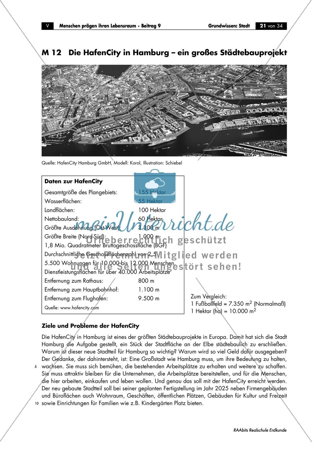 Grundlagen Stadt: Hamburg - Hafencity + Städtebauprojekt Preview 2