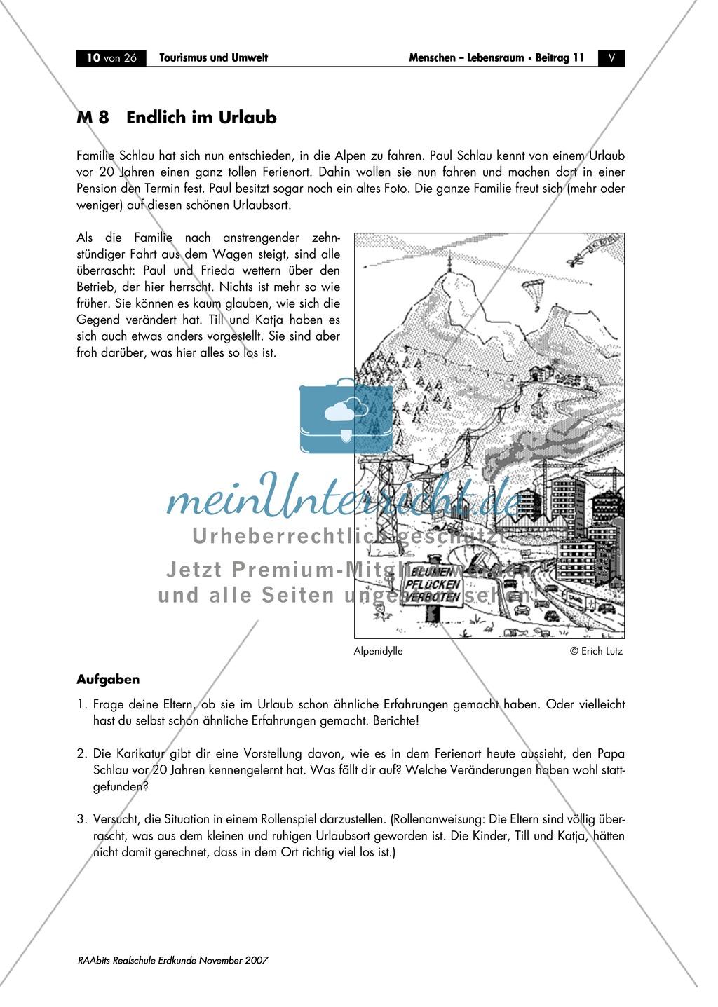 Umweltschutz im Tourismus: Umweltschädigung + Massentourismus Preview 1