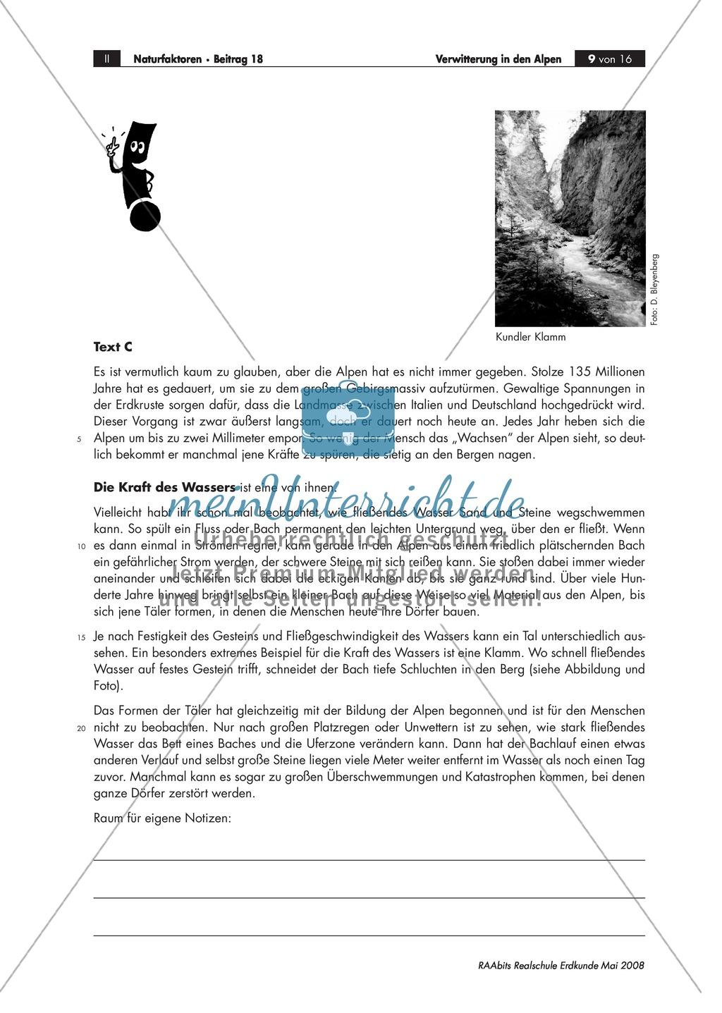 Eine Expertenrunde über Formen der Verwitterung abhalten - Beispiel Alpen Preview 3