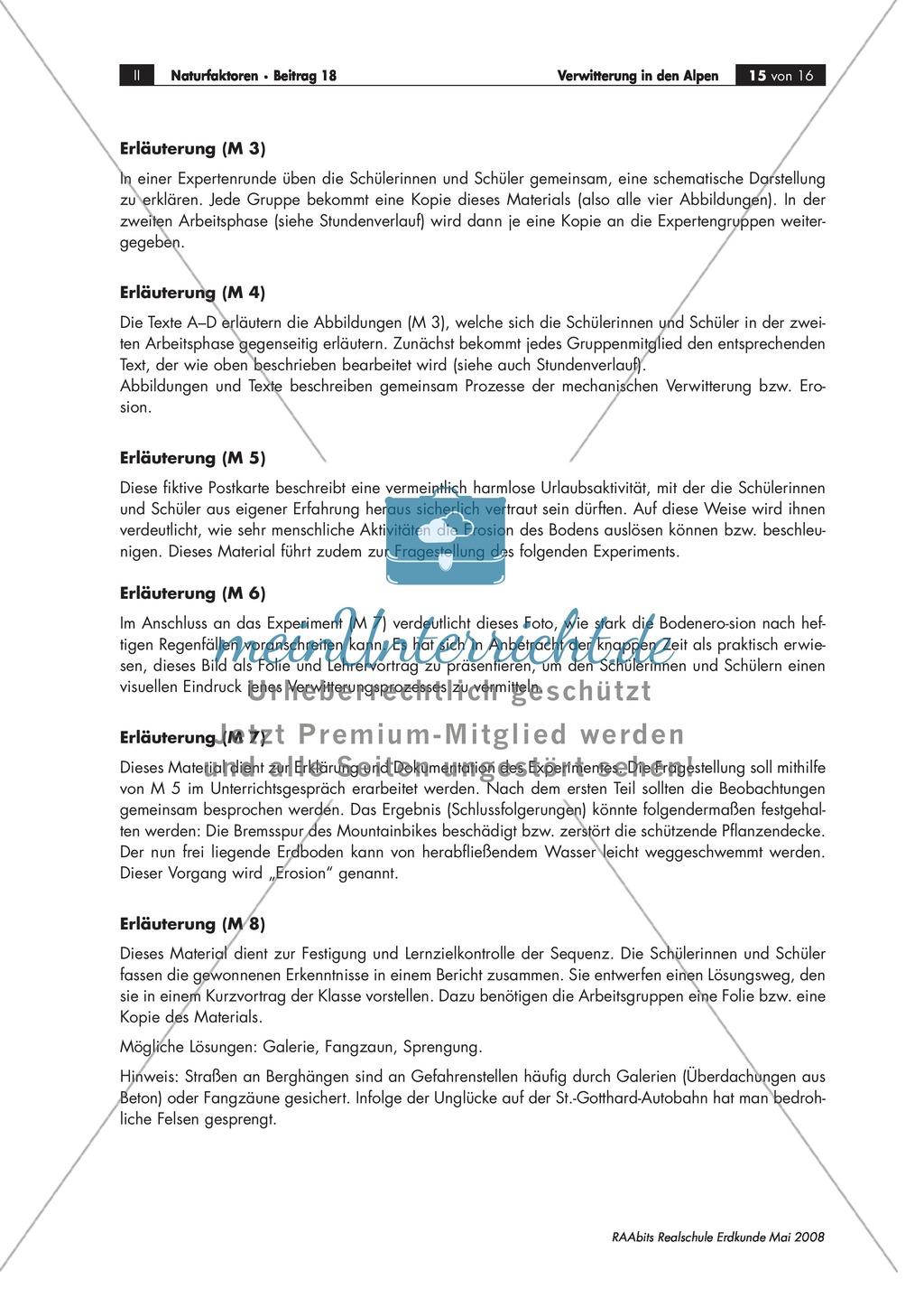Verwitterung in den Alpen: Ursachen für einen Felssturz + Schutzmaßnahmen für eine Straße diskutieren Preview 1