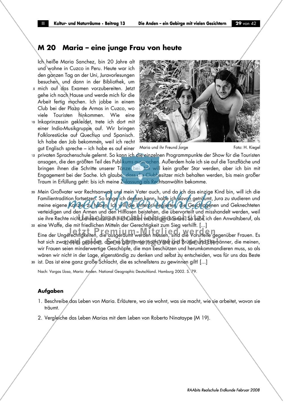 Die Anden kennen lernen -  Aspekte aus Sozial- und Kulturgeographie: Inkas + Sprachen + Lebensbedingungen + Sozialstrukturen Preview 3