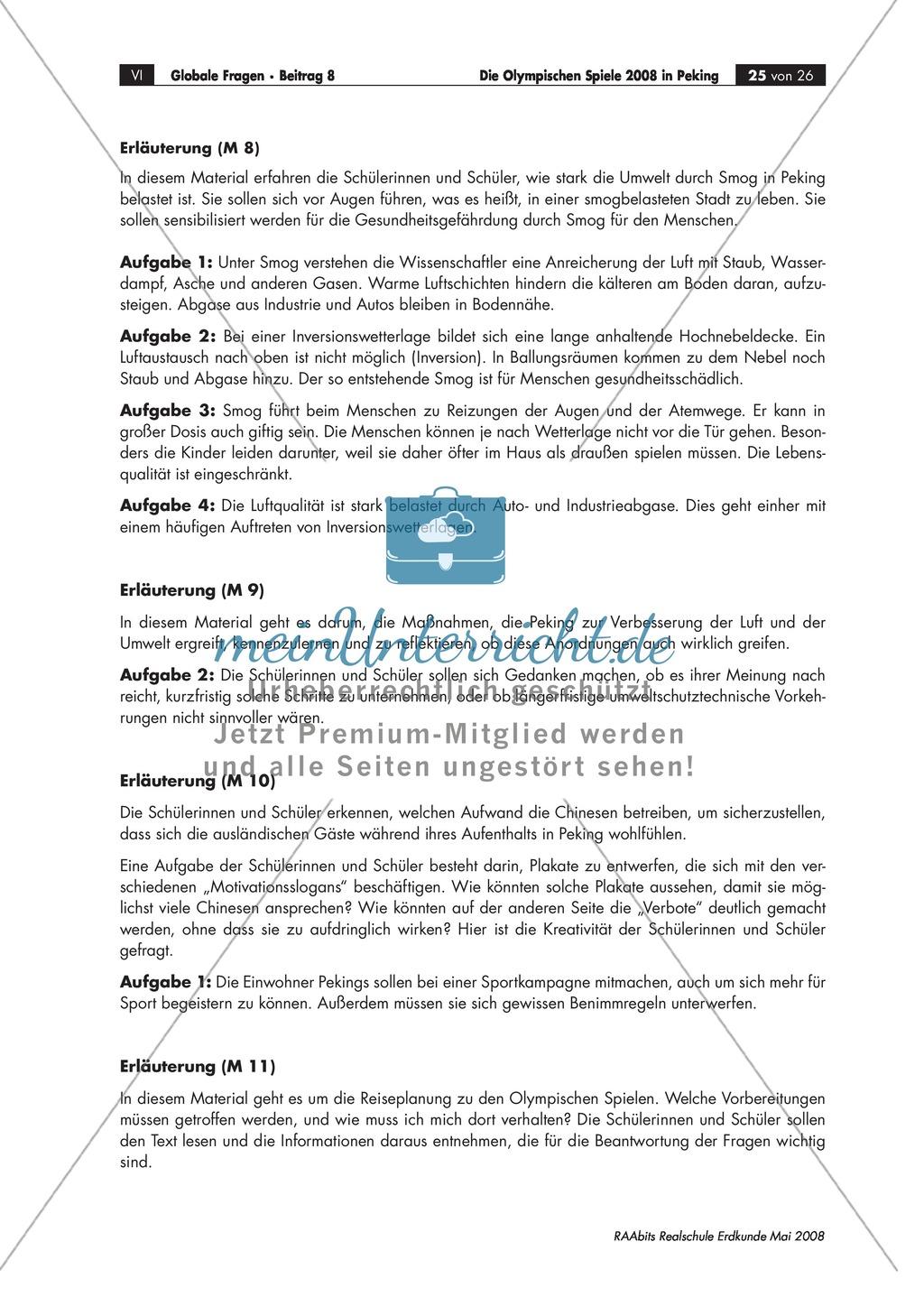 Umweltverschmutzung in Peking: Lösungsansätze + Kampagnen zum Smogproblem bei den Olympischen Spielen diskutieren Preview 3