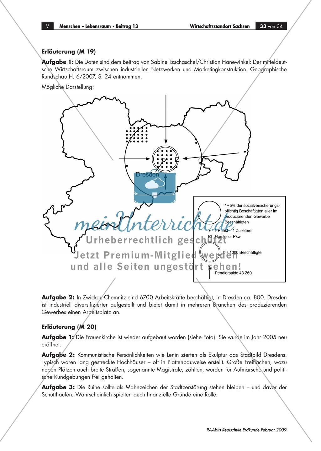 Wirtschaftlicher Aufschwung in den neuen Bundesländern: Cluster am Beispiel der Industrie in Sachsen kennen lernen Preview 4