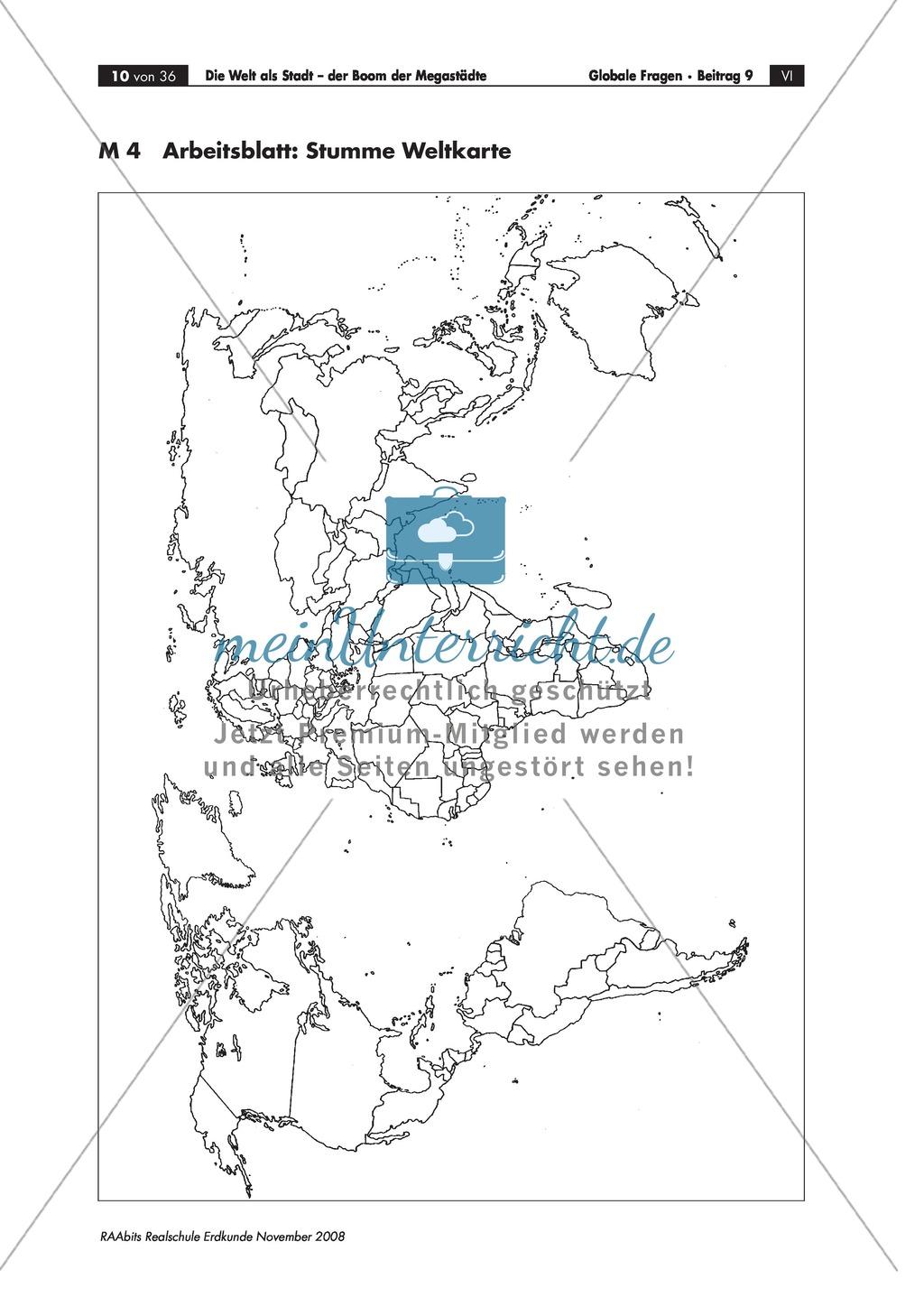 Topographie und Definition von Megacities mit Hilfe des Atlasses erarbeiten Preview 3