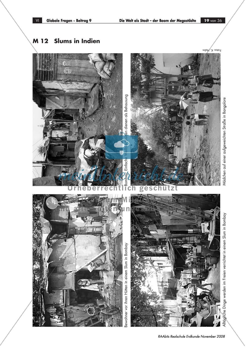 Slums in Megacities: Definition erarbeiten + Lebensbedingungen in Slums erörtern Preview 0