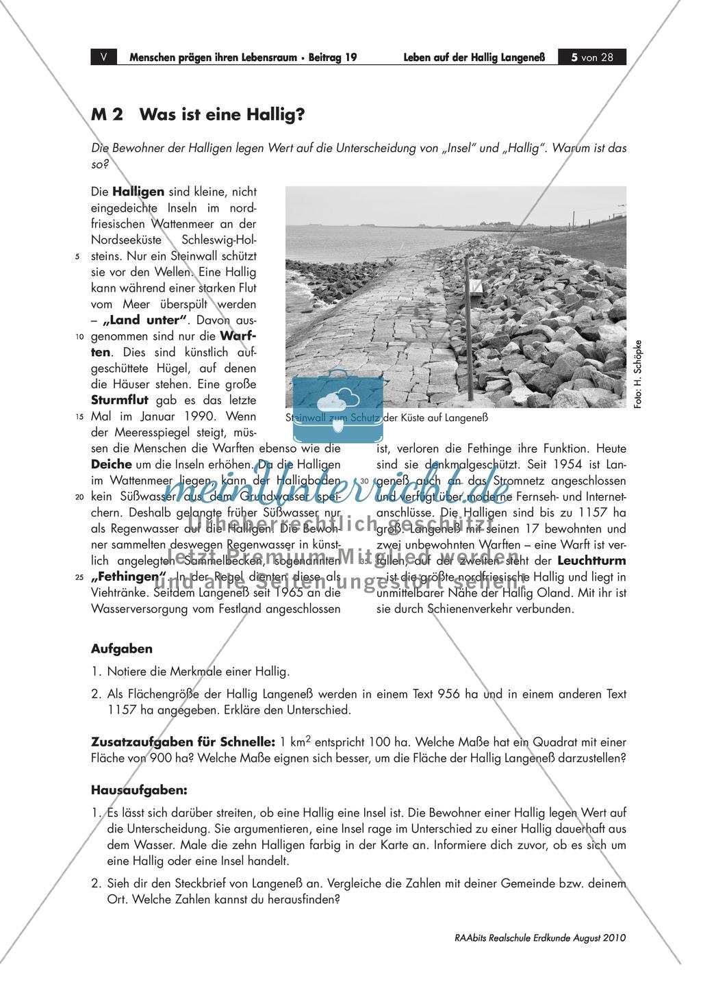 Die Hallig Langeneß: Orientierung und Anreise + allgemeine Merkmale von Halligen Preview 1