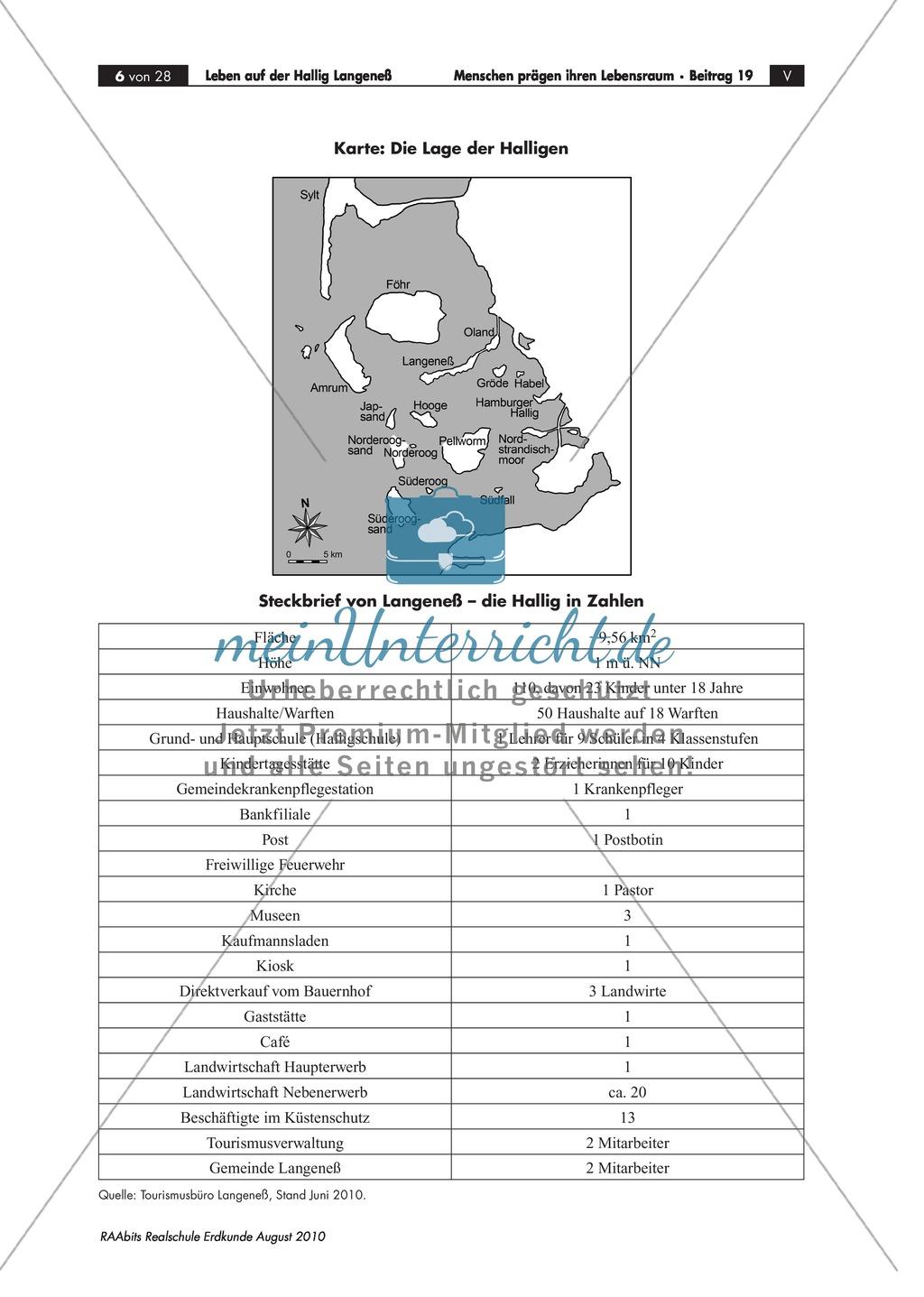 Die Hallig Langeneß: Orientierung und Anreise + allgemeine Merkmale von Halligen Preview 2
