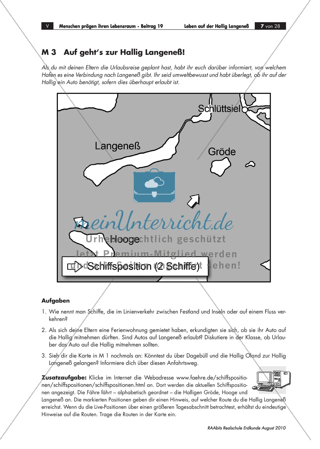 Die Hallig Langeneß: Orientierung und Anreise + allgemeine Merkmale von Halligen Preview 3