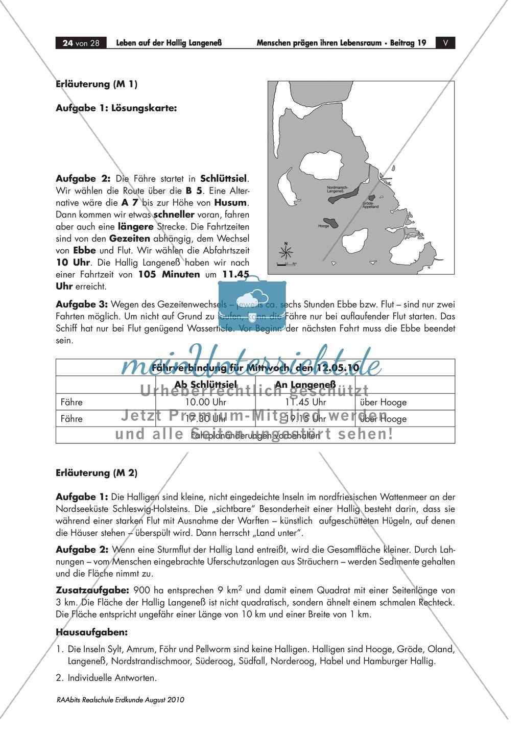 Die Hallig Langeneß: Orientierung und Anreise + allgemeine Merkmale von Halligen Preview 7