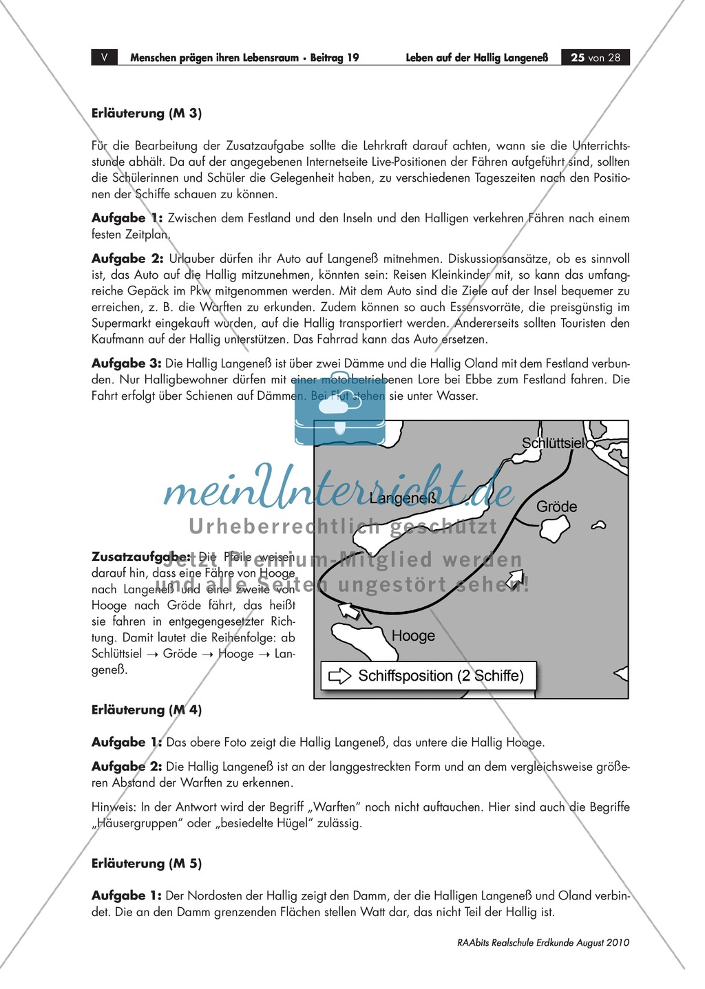 Die Hallig Langeneß: Orientierung und Anreise + allgemeine Merkmale von Halligen Preview 8