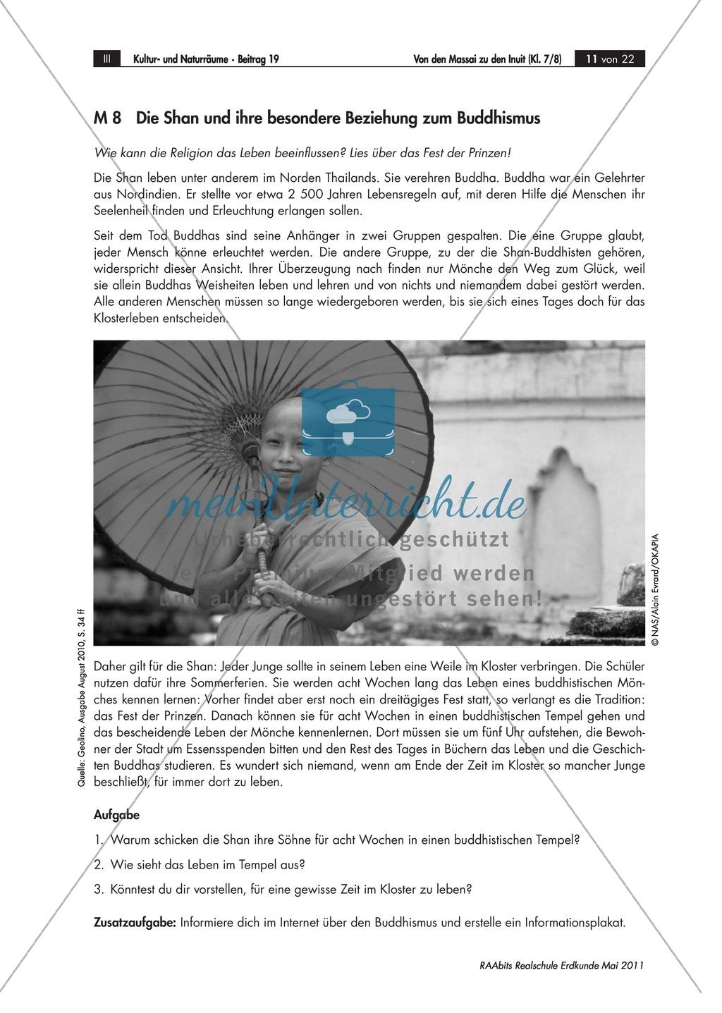 Interkulturelle Kompetenzen entwickeln: Kulturerdteile kennenlernen - Buddhistische Mönche und Konfuzius Preview 0