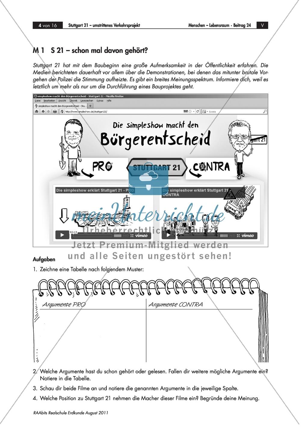 Stuttgart 21 - ein Verkehrs-Großprojekt: Vor- und Nachteile + Rollenspiel Preview 0