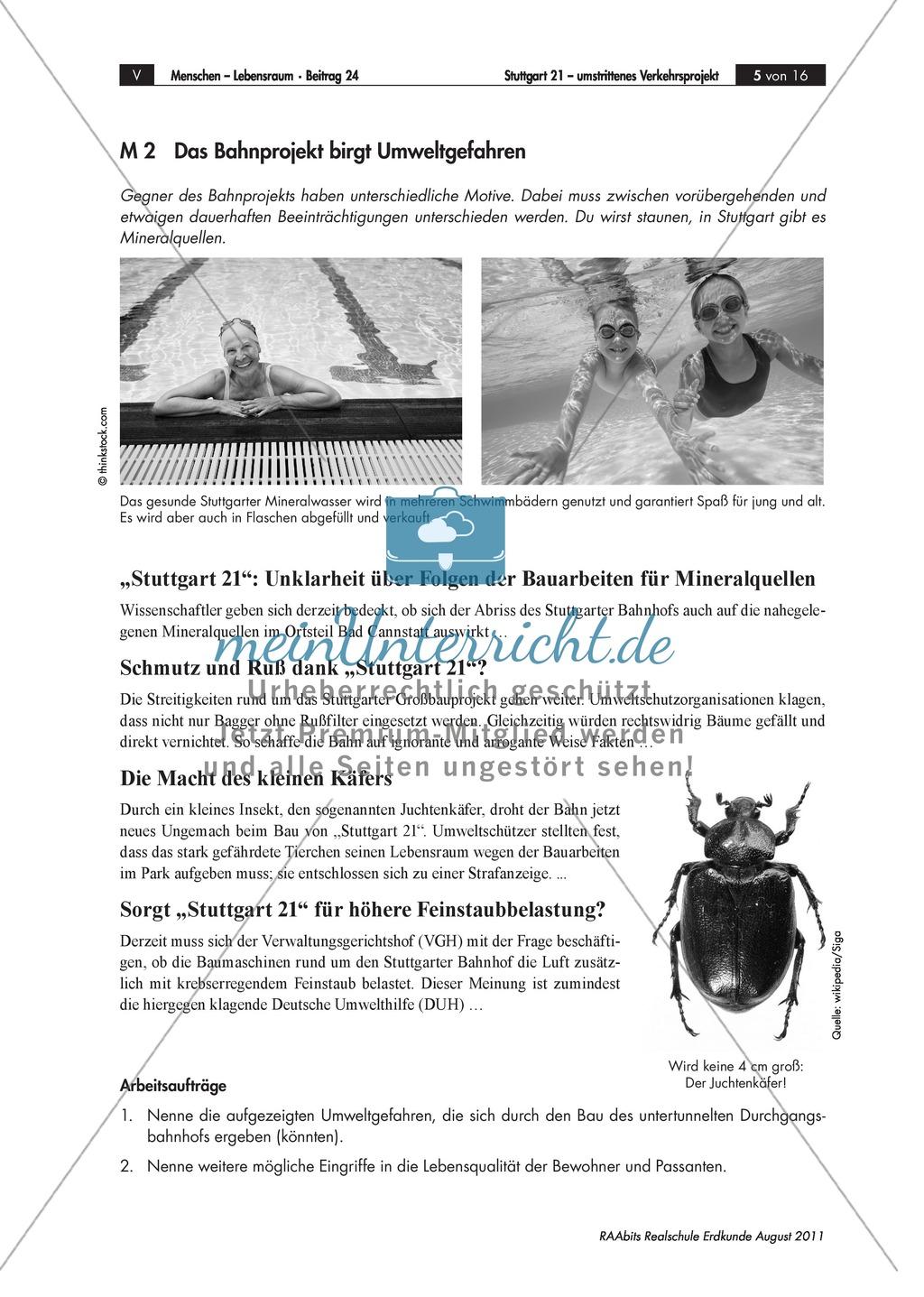 Stuttgart 21 - ein Verkehrs-Großprojekt: Vor- und Nachteile + Rollenspiel Preview 1