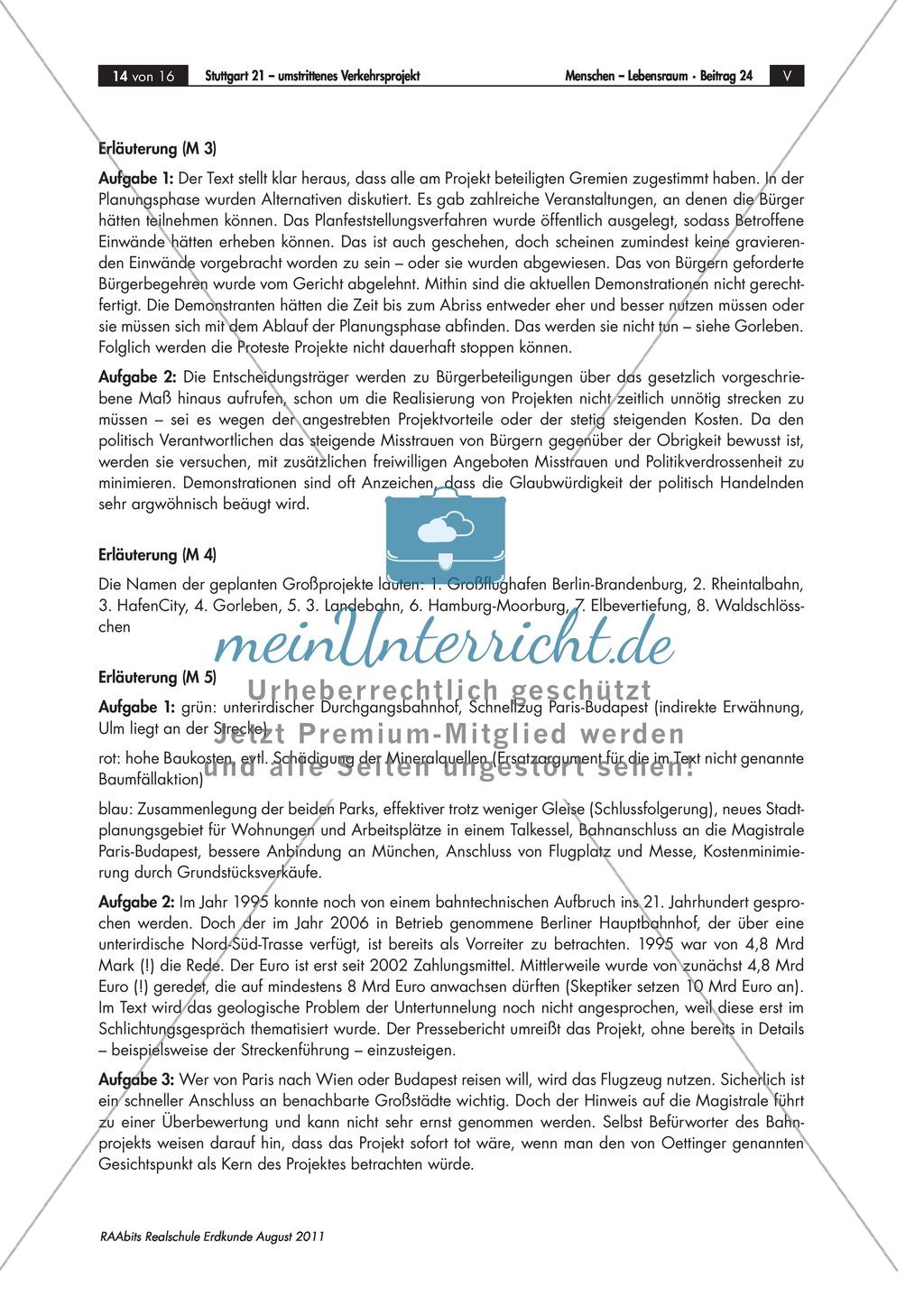 Stuttgart 21 - ein Verkehrs-Großprojekt: Vor- und Nachteile + Rollenspiel Preview 7