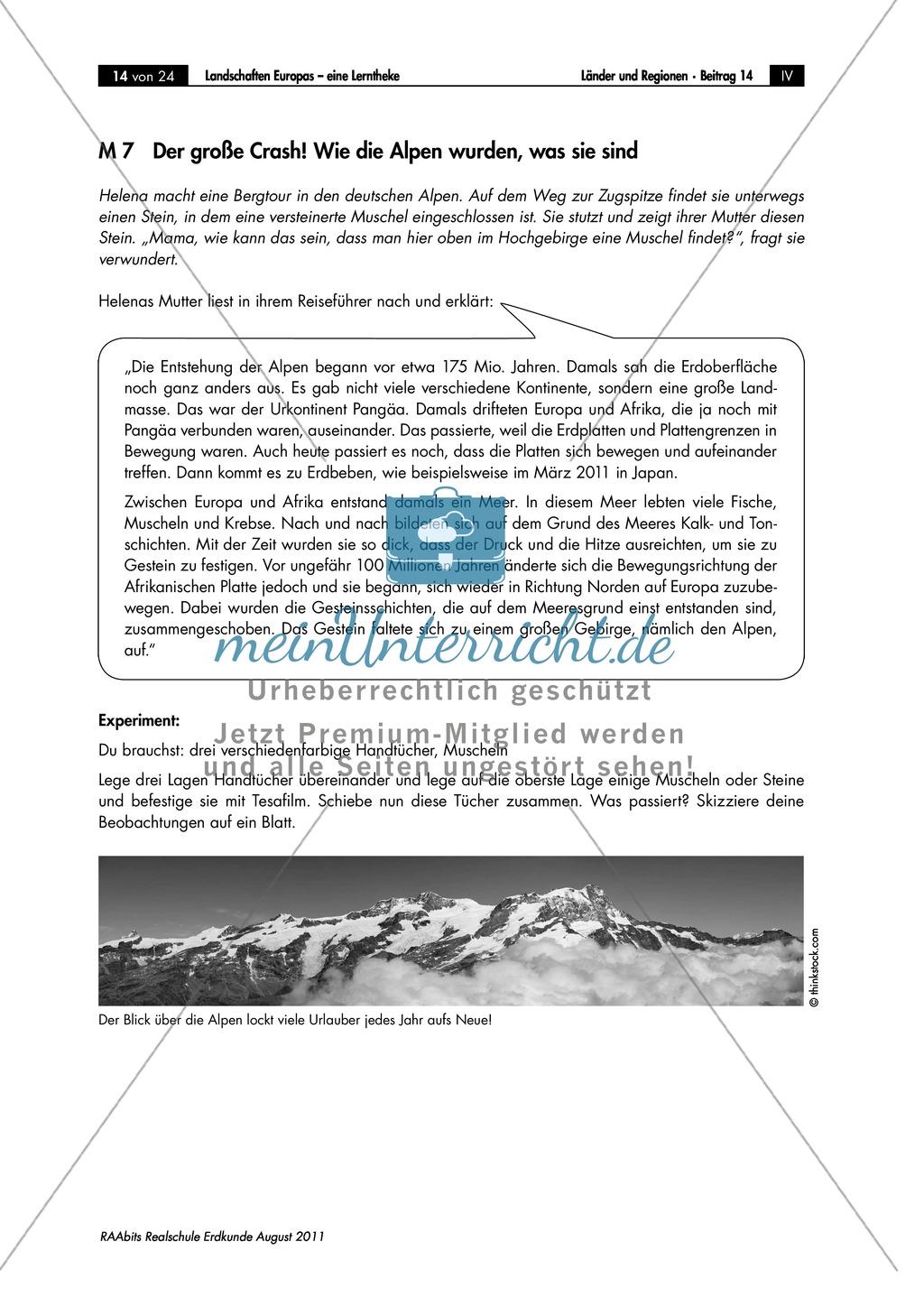 Europäische Landschaften kennenlernen: die Entstehung der Alpen Preview 0