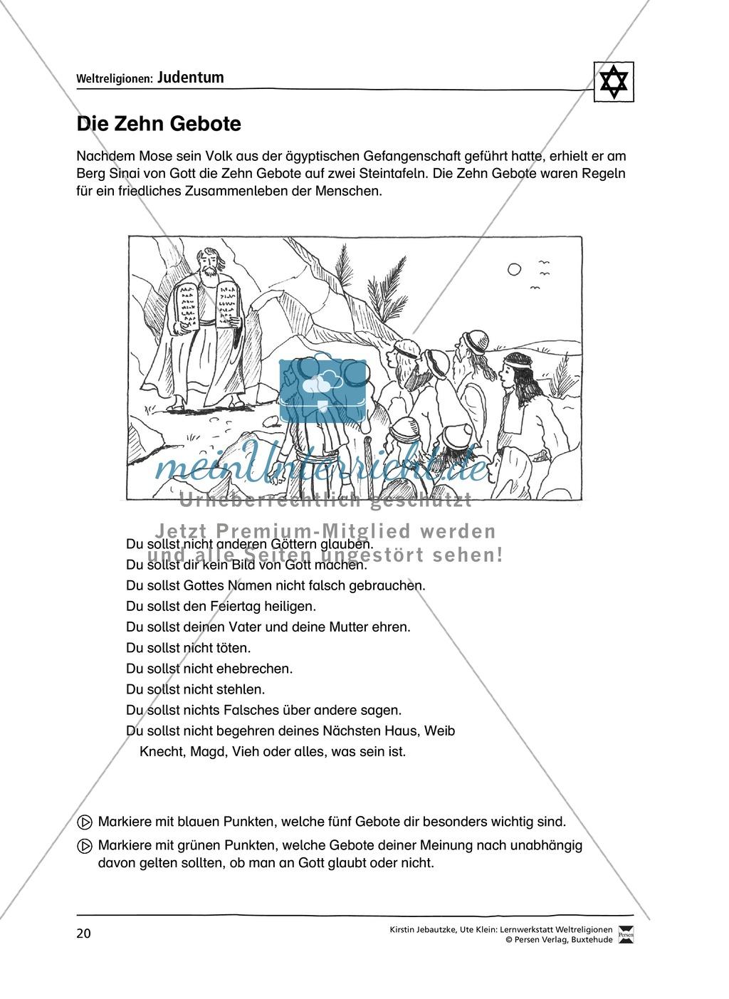 Unterrichtsmaterial zum Judentum - mit Infomaterial zu Gottheit, Schrift, Synagogen, Feiertagen uvm. Preview 12