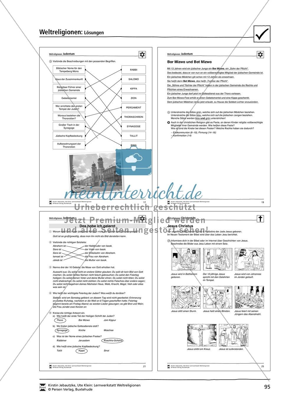 unterrichtsmaterial zum judentum mit infomaterial zu gottheit schrift synagogen feiertagen. Black Bedroom Furniture Sets. Home Design Ideas