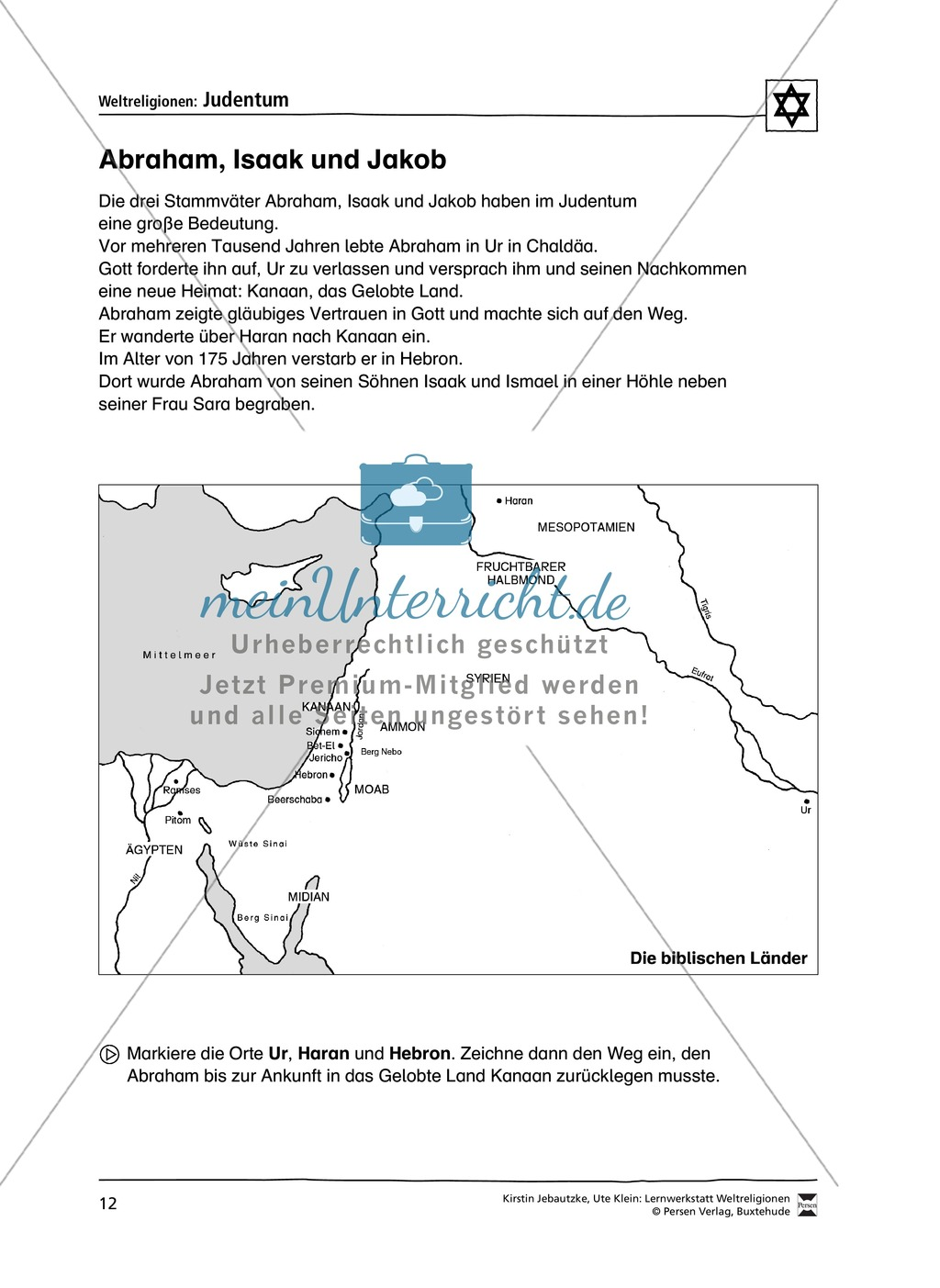 Unterrichtsmaterial zum Judentum - mit Infomaterial zu Gottheit, Schrift, Synagogen, Feiertagen uvm. Preview 4