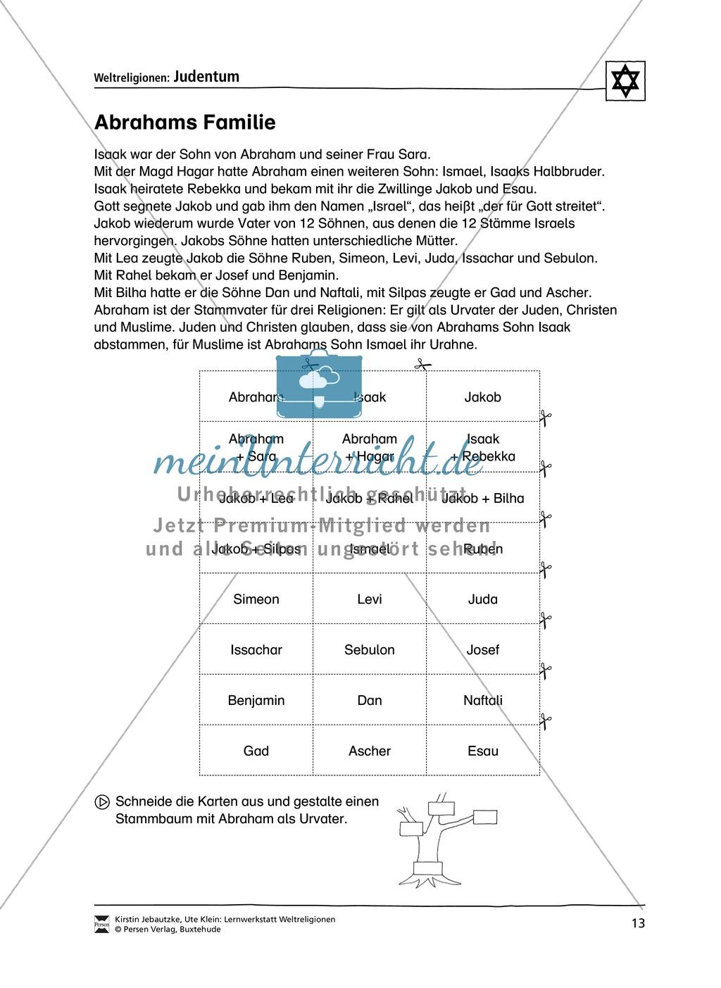 Unterrichtsmaterial zum Judentum - mit Infomaterial zu Gottheit, Schrift, Synagogen, Feiertagen uvm. Preview 5