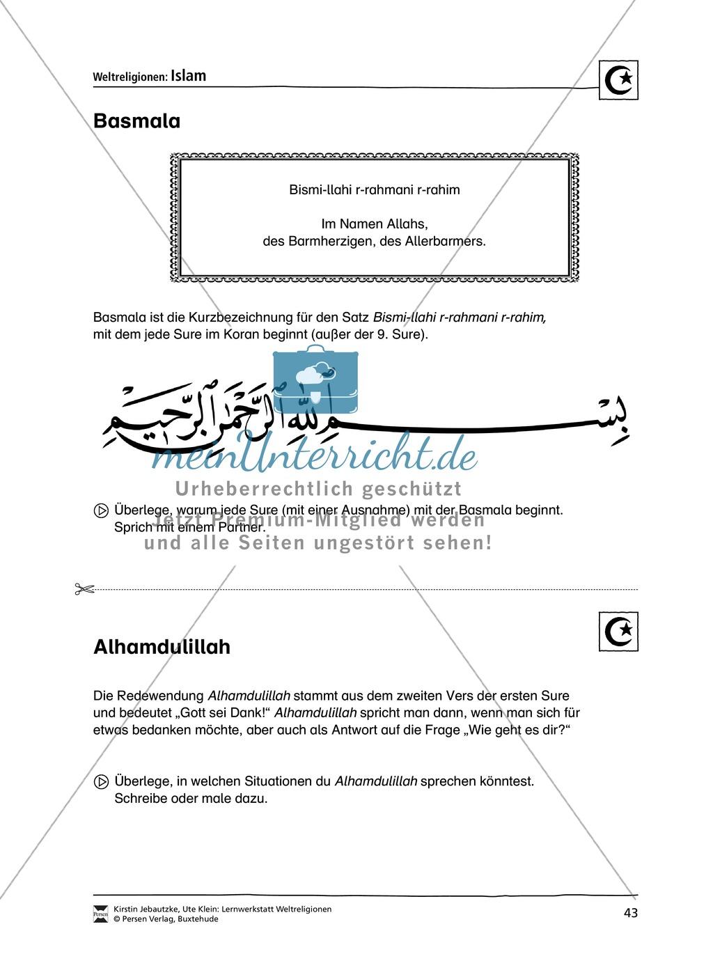 Unterrichtsmaterial zum Islam - mit Infomaterial zu Gottheit, Koran, Moscheen, Feiertagen uvm. Preview 9