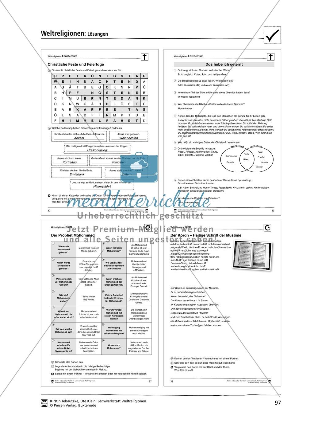 Unterrichtsmaterial zum Islam - mit Infomaterial zu Gottheit, Koran, Moscheen, Feiertagen uvm. Preview 12