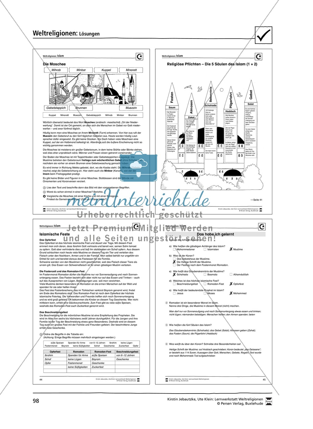Unterrichtsmaterial zum Islam - mit Infomaterial zu Gottheit, Koran, Moscheen, Feiertagen uvm. Preview 13