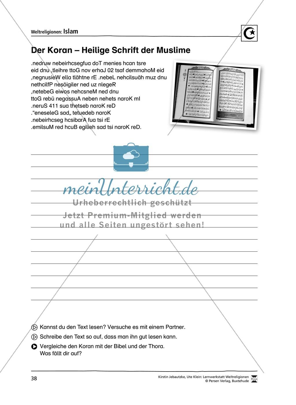 Unterrichtsmaterial zum Islam - mit Infomaterial zu Gottheit, Koran, Moscheen, Feiertagen uvm. Preview 4